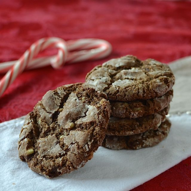 Chocolate Mint Crackle Cookies peppermint extract