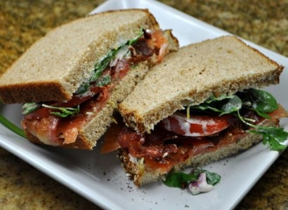smoked salmon blt with arugula | Food I Love | Pinterest