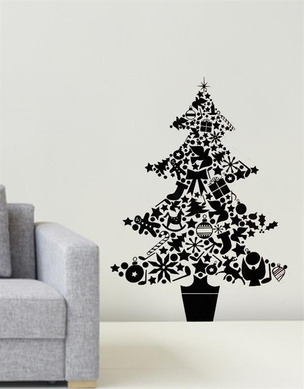 Christmas Tree Drawing On Wall : Christmas tree wall art bits pieces