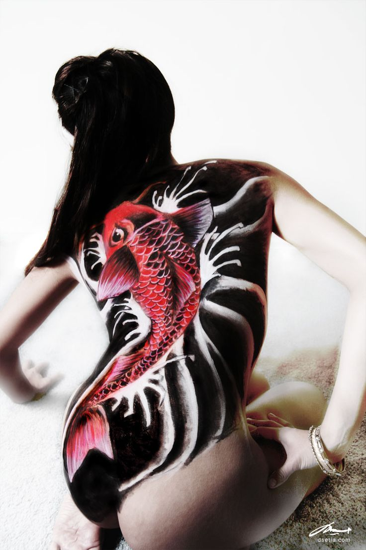 koi body painting by DEN|ART NY. One of our most popular piece.