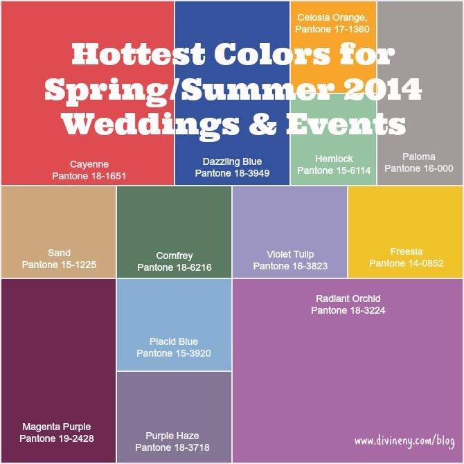 Wedding colors for 2014 | How to do | Pinterest