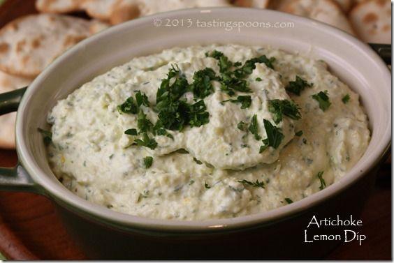 artichoke_lemon_dip | Recipes | Pinterest