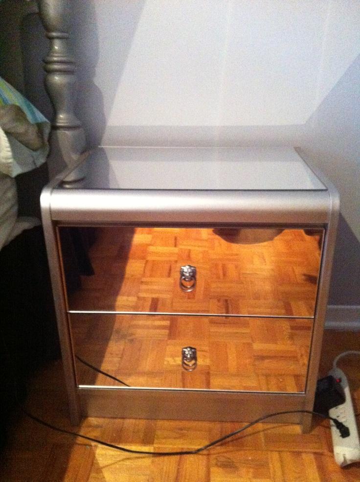 My DIY Mirrored Bedside Table DIY Pinterest