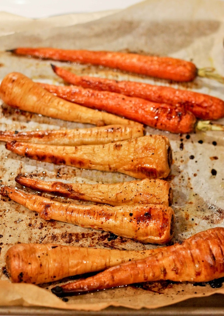 Love and Zest: Honey Roasted Carrots and Parsnips