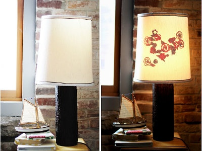 How to Make a Silhouette Lampshade {lamp shade}