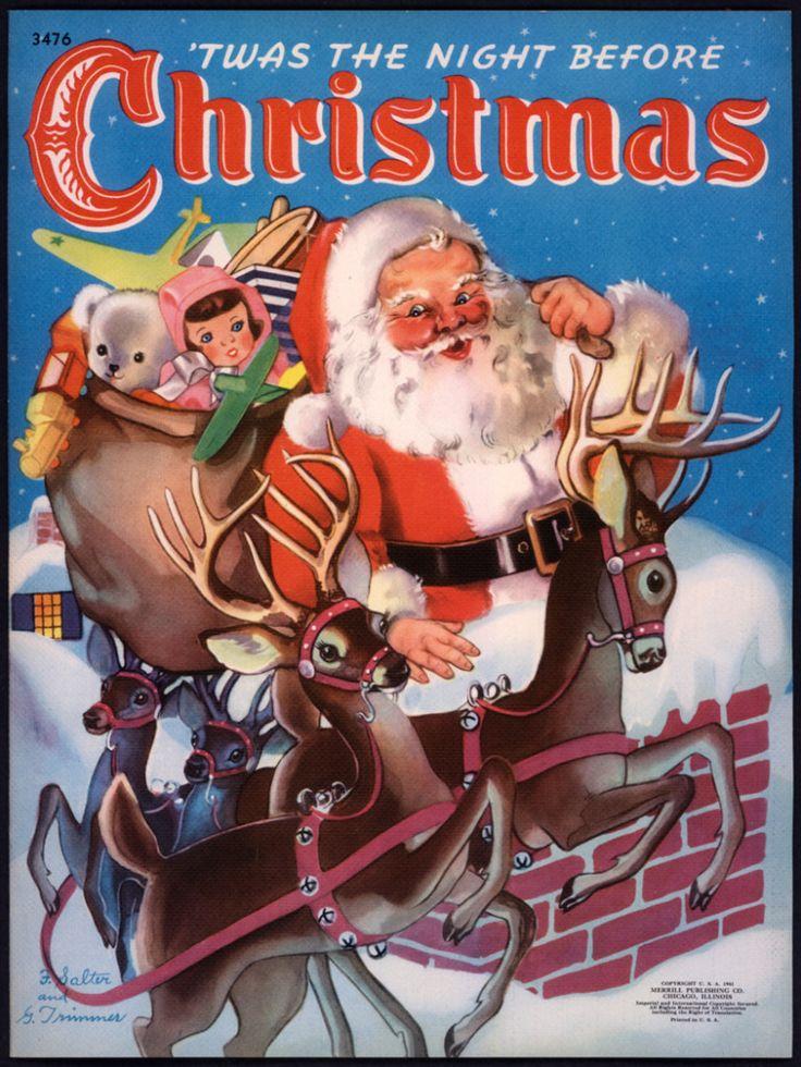 "Merrill 1941 ""'Twas the Night Before Christmas"", illus. Florence Salter | eBay"