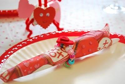 valentine napkin ring ideas