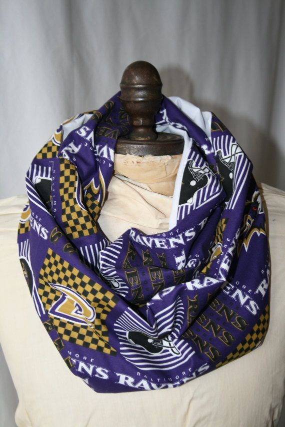 nfl baltimore ravens infinity scarf gamedaybella