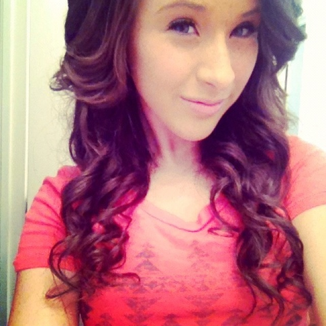 Hair curled with a straightener :) | Pretty curls ️ | Pinterest