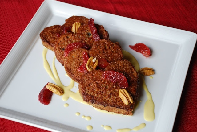 Chocolate French Toast with Blood Orange, Pecans and Crown Royal Maple ...