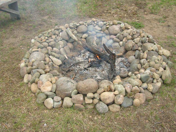 Stone Fire Pit Glamping 2014 Pinterest