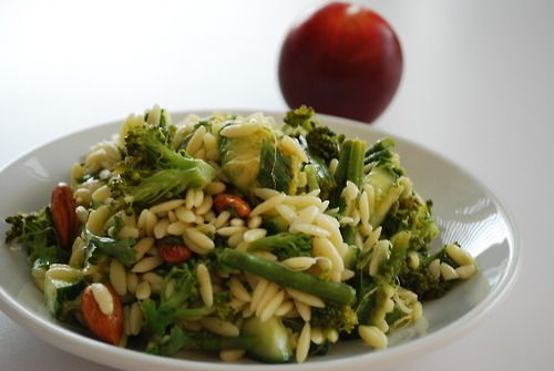 Orzo salad filled with super foods! Avocado, asparagus, broccoli ...