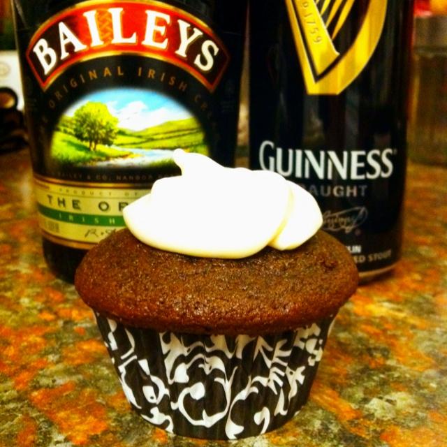 Irish Car Bomb Cupcake - Guinness chocolate cupcake with Baileys ...