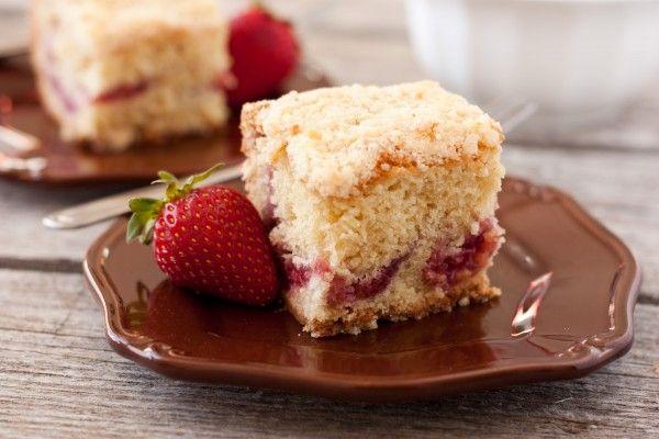 Strawberry Coffee Cake #WishFarms #BerriesforBreakfast