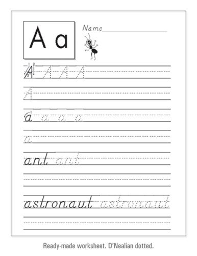 Handwriting worksheet maker for teachers