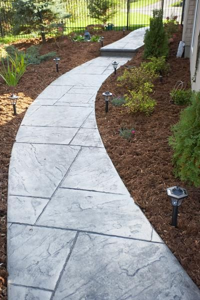 Do it yourself landscaping designs for slate walkways - Walkway designs for homes ...