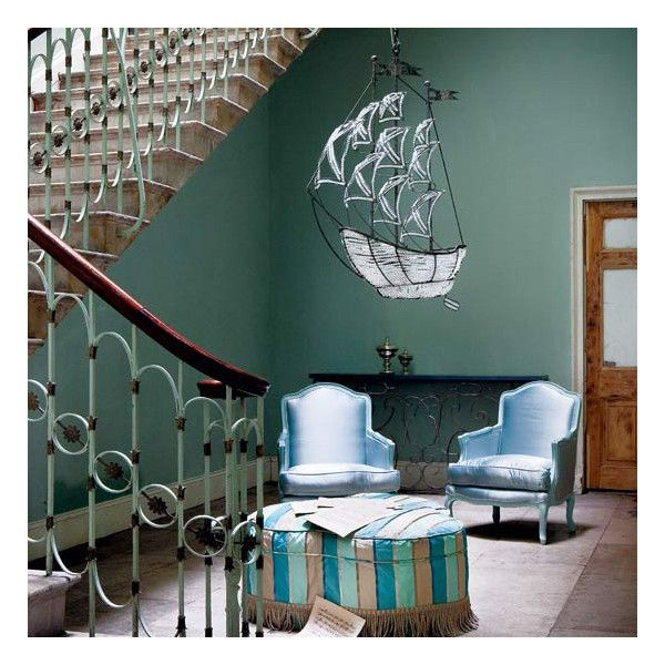Farrow & Ball Green Blue Paint hallway