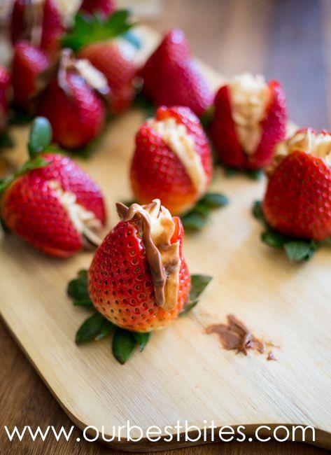 Stuffed Strawberries | desserts | Pinterest