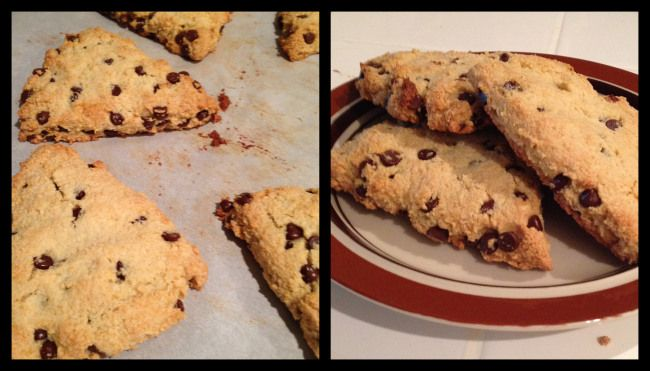 Paleo Chocolate Chip Orange Scones! #homemadeescapades