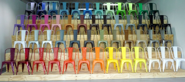 Tolix chairs at Paris Design Week