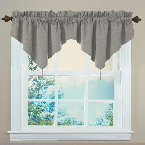 Sound Asleep Curtains Grey Room-Darkening Rod Pocket Ascot Window ...