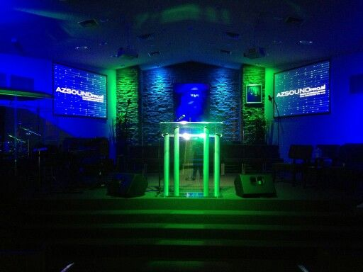 small contemporary church has new lighting