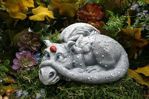 Dragon Garden Statue Daisy The Dragon Her Ladybug Friend