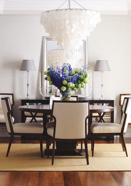 Capiz Chandelier Dining Rooms Pinterest