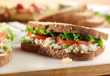 Canned chicken makes these sandwiches easy and tasty...nonfat yogurt ...