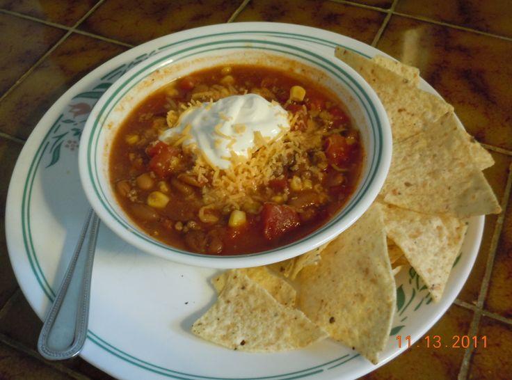 Slow Cooker Taco Soup | Dinner | Pinterest