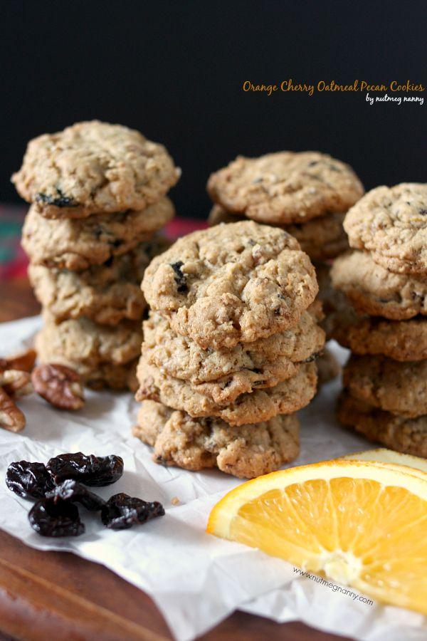 Orange Cherry Oatmeal Pecan Cookies by Nutmeg Nanny @Brandy O'Neill ...