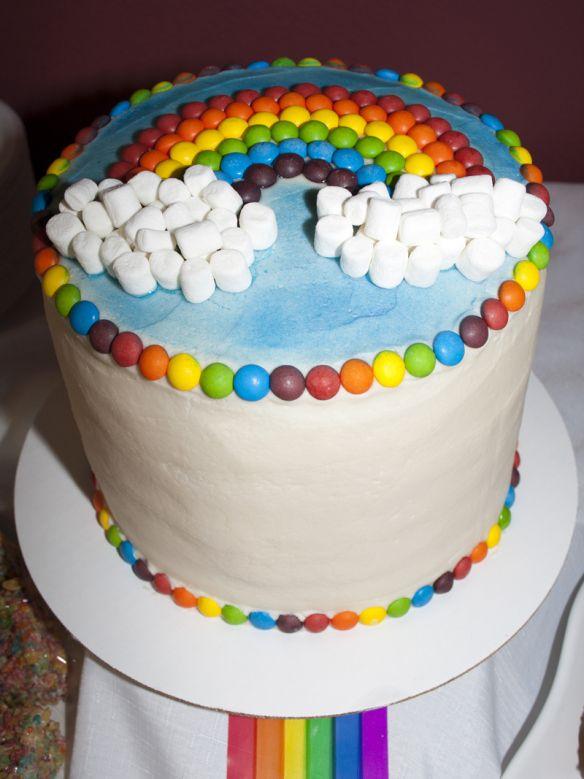 Amazing rainbow layer cake | Birthday Party Ideas | Pinterest