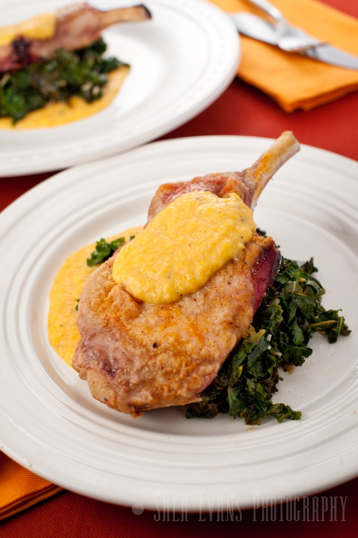 Pork Chops with Sauteed Kale and Butternut Squash Apple Puree, A.K.A ...