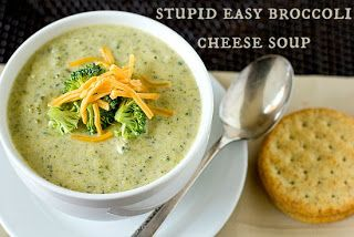 just another day in paradise: stupid easy broccoli cheese soup