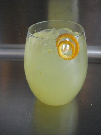Citrus White Wine Spritzer In a glass, insert 2 lemon slices and 2 ...