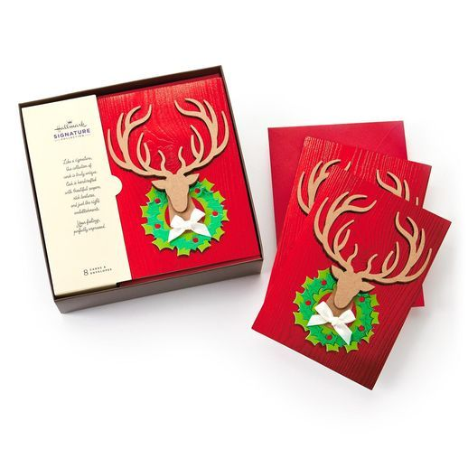 Reindeer Wreath Boxed Cards