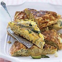 Zucchini and Potato Frittata #zucchini | Glorious Food Recipes | Pint ...