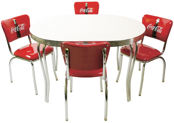 Coca cola table ideas for my 50 39 s kitchen pinterest - Coca cola table and chairs set ...
