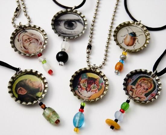 Bottle cap necklaces diy crafts pinterest for Bottle cap hat diy