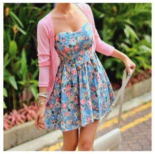 Adoran Los Vestidos Floreados | Moda Para Adolescentes ...