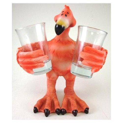 Pink Flamingo Shot Glass Holder