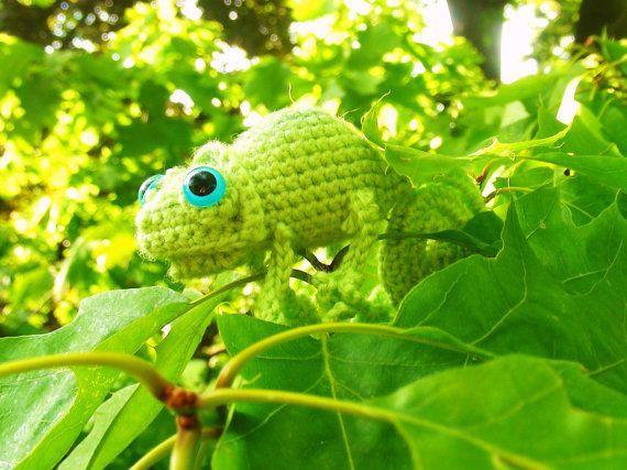 Crochet Chameleons : Chameleon CROCHET PATTERN by Wibit on Etsy, $3.50