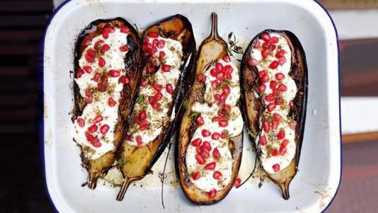 Eggplant with Buttermilk Sauce | Recipe