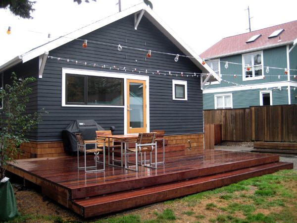 Awesome deck dream house pinterest for Decking in back garden
