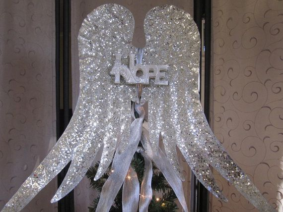 Angel Wings Christmas Tree Topper Rustic by Christmastreetops