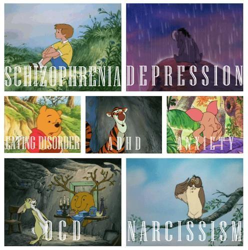The pooh characters mental disorders kanga and roo winnie the pooh
