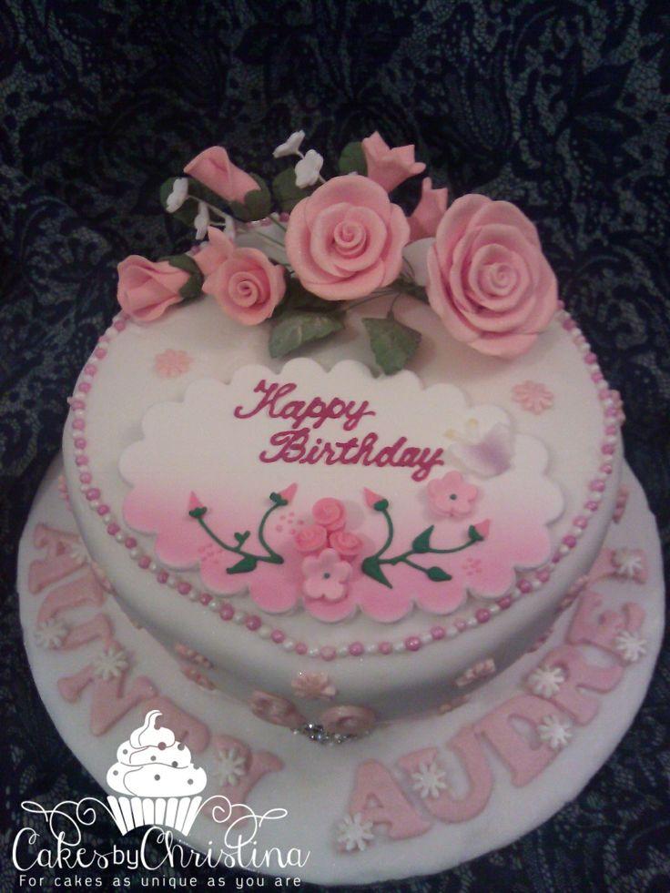 80th birthday cake  Cakes by Christina  Pinterest