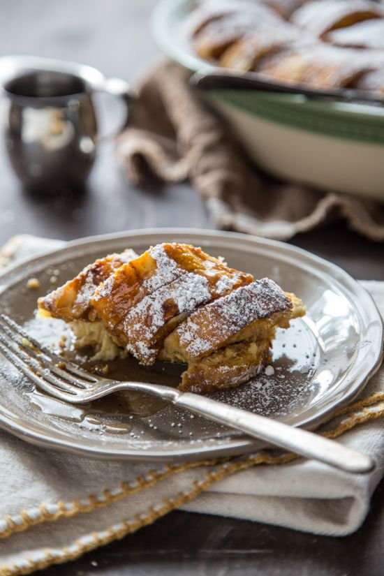 Pumpkin Bread Pudding with Maple Rum Raisin Syrup | Recipe