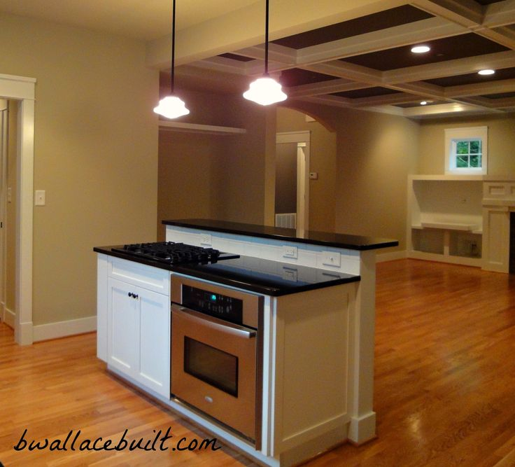 Kitchen Island With Stove Plans: Kitchen Island With Separate Stove Top From Oven.
