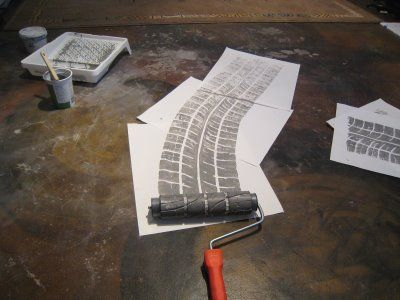 How To Make A Tire Tread Paint Roller